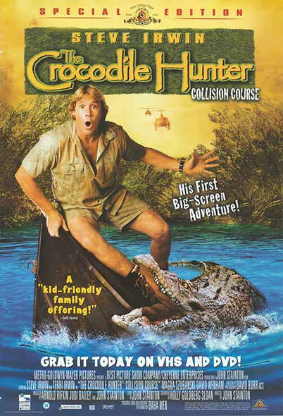 THE CROCODILE HUNTER (Video) ORIGINAL VIDEO/DVD AD POSTER
