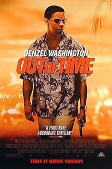 OUT OF TIME (Single Sided Video) ORIGINAL VIDEO/DVD AD POSTER