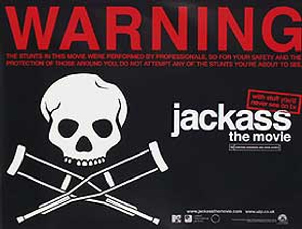 JACKASS THE MOVIE (Advance) (DOUBLE SIDED) ORIGINAL CINEMA POSTER
