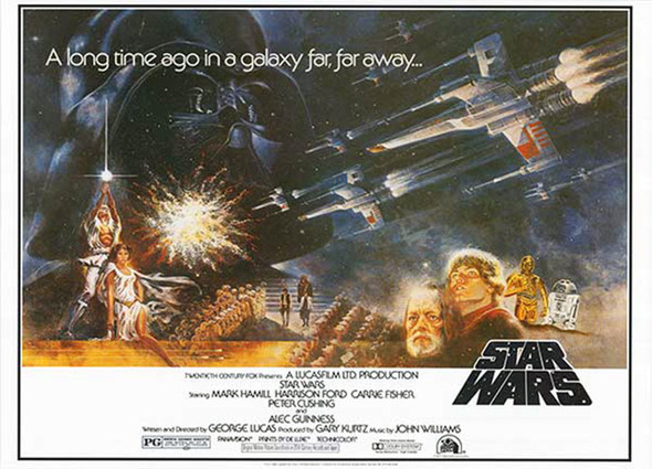 Star Wars A New Hope (Reprint) Poster