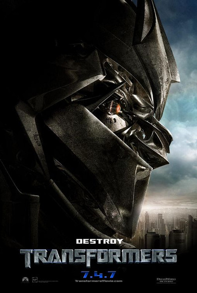 TRANSFORMERS ORIGINAL CINEMA POSTER