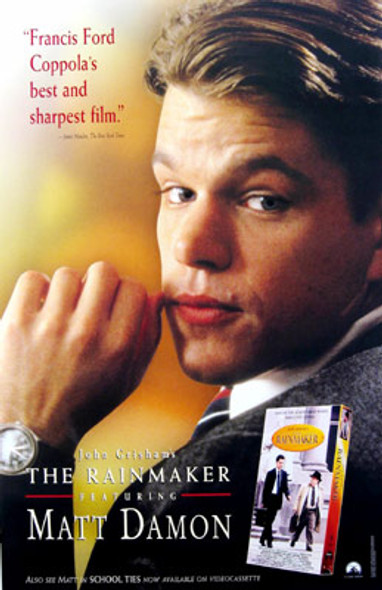 THE RAINMAKER (Video) ORIGINAL VIDEO/DVD AD POSTER