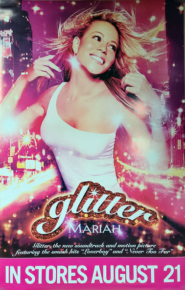 GLITTER (Album Release) (Mariah Carey) ORIGINAL MUSIC POSTER