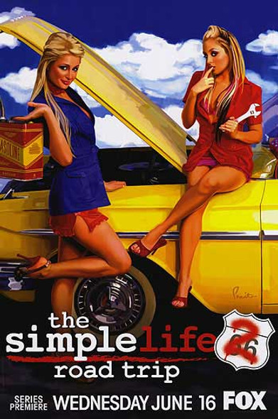 THE SIMPLE LIFE 2: ROAD TRIP ORIGINAL TV POSTER