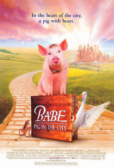 BABE - PIG IN THE CITY ORIGINAL CINEMA POSTER