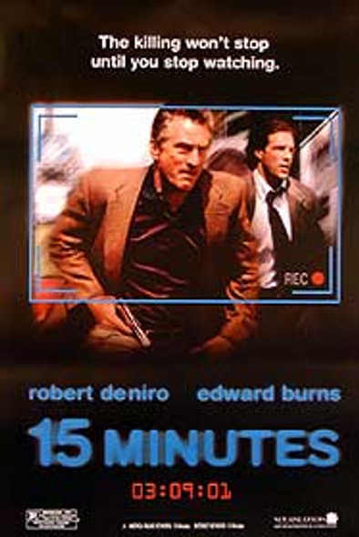 15 MINUTES (International) ORIGINAL CINEMA POSTER