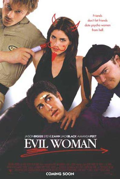 EVIL WOMAN (Advance) (Double Sided) ORIGINAL CINEMA POSTER