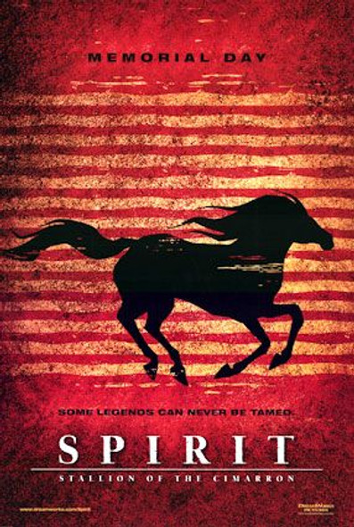 SPIRIT - STALLION OF THE CIMARRON (Advance Double Sided) ORIGINAL CINEMA POSTER