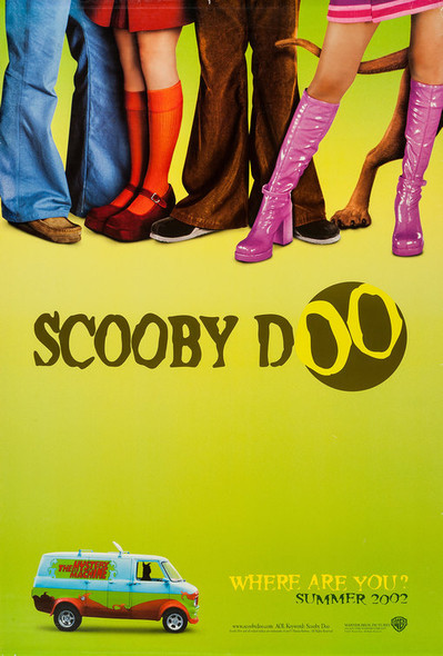 Scooby Doo (Advance Double-Sided Green) Original Cinema Poster