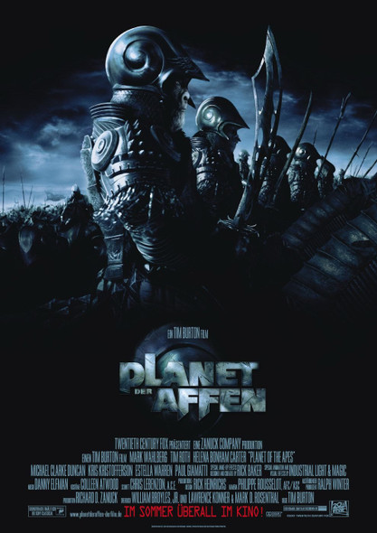 PLANET OF THE APES 2001 (Regular German) ORIGINAL CINEMA POSTER