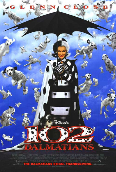 102 DALMATIANS (Double Sided Regular) ORIGINAL CINEMA POSTER