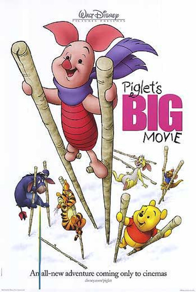 PIGLET'S BIG MOVIE (Double Sided Advance) ORIGINAL CINEMA POSTER