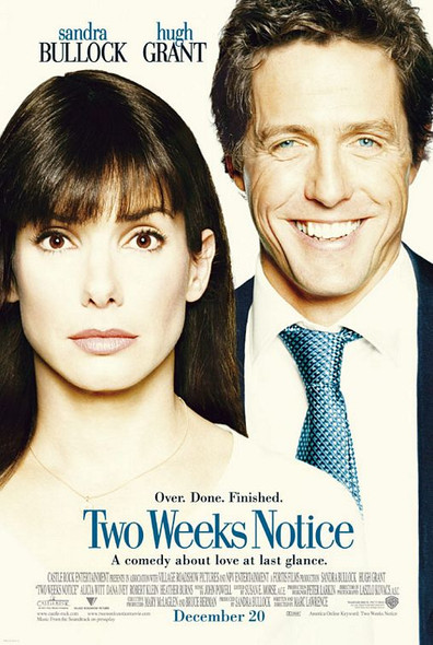 TWO WEEKS NOTICE (Double Sided Regular) ORIGINAL CINEMA POSTER