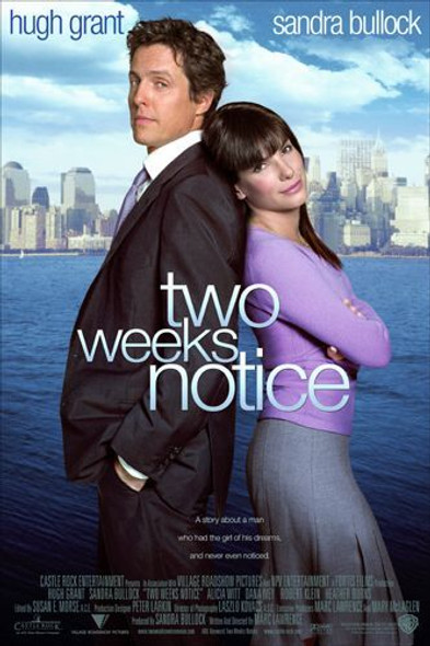 TWO WEEKS NOTICE (Double Sided International) ORIGINAL CINEMA POSTER