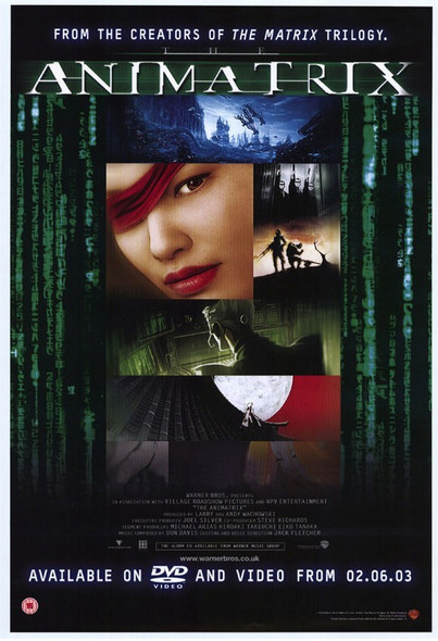ANIMATRIX (Single Sided) ORIGINAL VIDEO / DVD POSTER