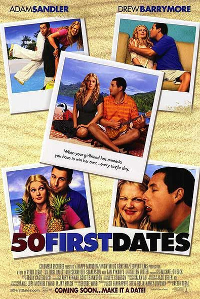 50 FIRST DATES (Double Sided International) ORIGINAL CINEMA POSTER