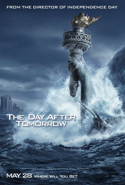 THE DAY AFTER TOMORROW (Double Sided Advance Water) ORIGINAL CINEMA POSTER