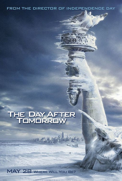 THE DAY AFTER TOMORROW (Double Sided Advance Snow) ORIGINAL CINEMA POSTER
