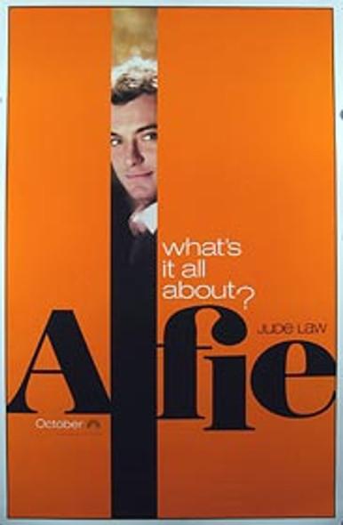 ALFIE (Single Sided Advance Orange) ORIGINAL CINEMA POSTER