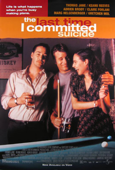THE LAST TIME I COMMITED SUICIDE (SINGLE SIDED) ORIGINAL CINEMA POSTER