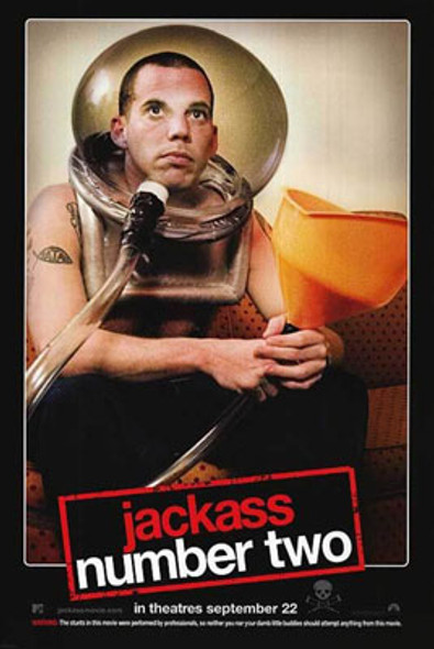 JACKASS NUMBER TWO (Double Sided Regular) ORIGINAL CINEMA POSTER