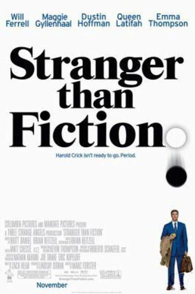 STRANGER THAN FICTION (Double Sided Regular) ORIGINAL CINEMA POSTER