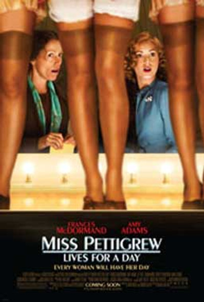 MISS PETTIGREW LIVES FOR A DAY (Double Sided Regular) ORIGINAL CINEMA POSTER