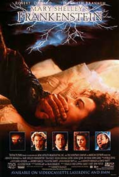 MARY SHELLEY'S FRANKENSTEIN (Single Sided Video) ORIGINAL VIDEO/DVD AD POSTER