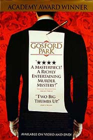 GOSFORD PARK (Single Sided Video) ORIGINAL VIDEO/DVD AD POSTER