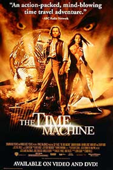 THE TIME MACHINE (Single Sided Video) ORIGINAL VIDEO/DVD AD POSTER