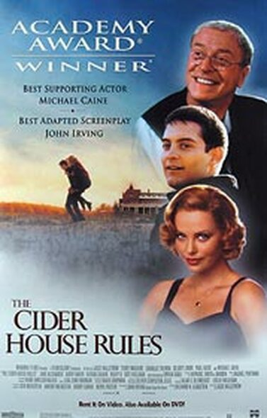 THE CIDER HOUSE RULES (Video) ORIGINAL VIDEO/DVD AD POSTER