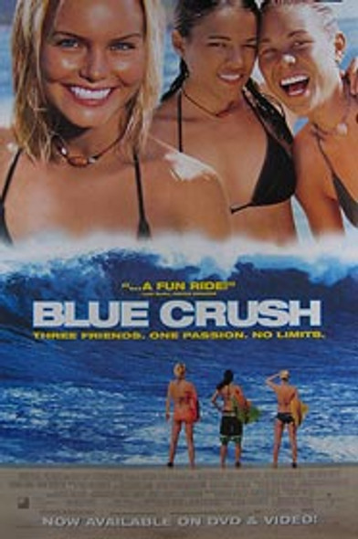 BLUE CRUSH (Video) ORIGINAL VIDEO/DVD AD POSTER