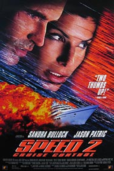 SPEED 2: CRUISE CONTROL (Video) ORIGINAL VIDEO/DVD AD POSTER