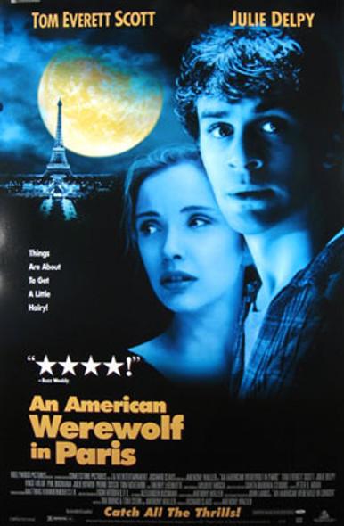 AN AMERICAN WEREWOLF IN PARIS (Video) ORIGINAL VIDEO/DVD AD POSTER