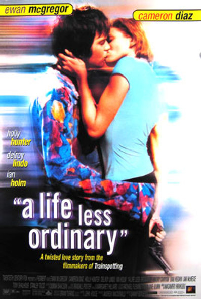 A LIFE LESS ORDINARY (Video) ORIGINAL VIDEO/DVD AD POSTER