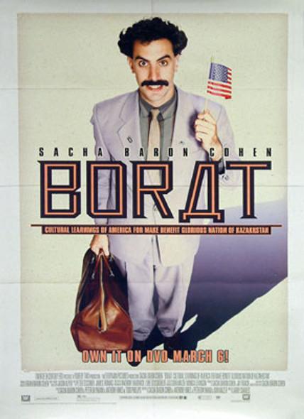 BORAT (Single Sided Video) ORIGINAL VIDEO/DVD AD POSTER
