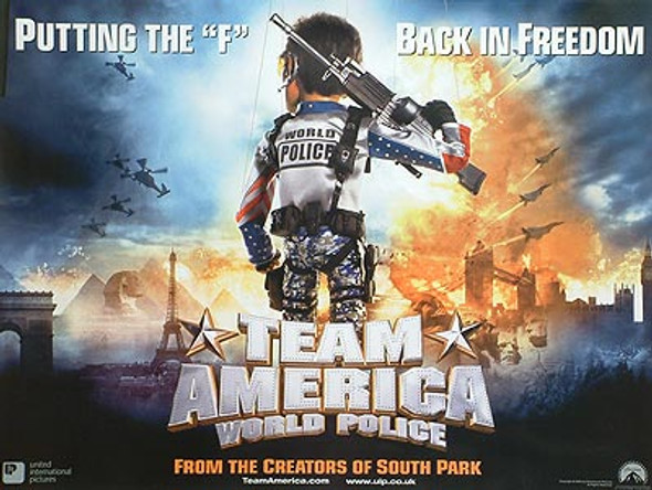 TEAM AMERICA (Double Sided) ORIGINAL CINEMA POSTER