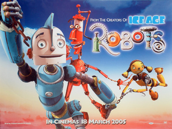 ROBOTS (DOUBLE SIDED) ORIGINAL CINEMA POSTER