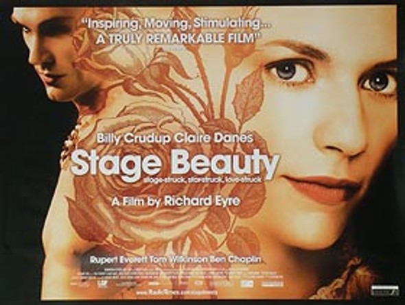 STAGE BEAUTY (Double Sided) ORIGINAL CINEMA POSTER
