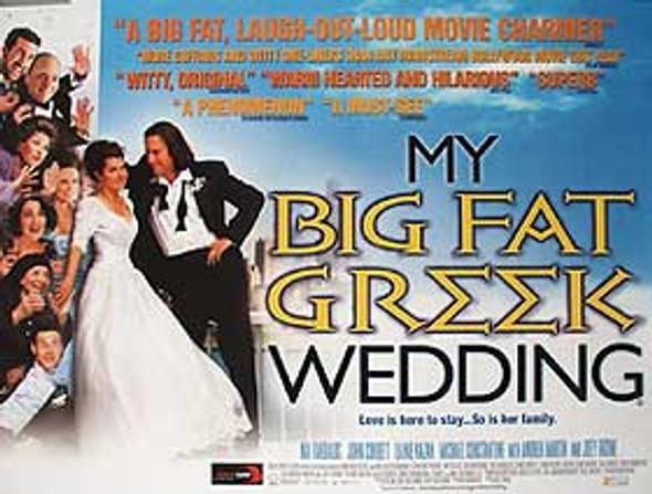 MY BIG FAT GREEK WEDDING ORIGINAL CINEMA POSTER