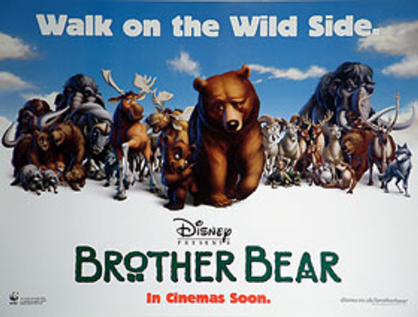 BROTHER BEAR (DOUBLE SIDED) ORIGINAL CINEMA POSTER