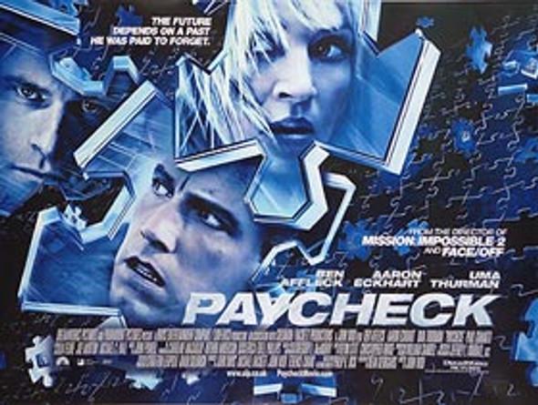 PAYCHECK ORIGINAL CINEMA POSTER
