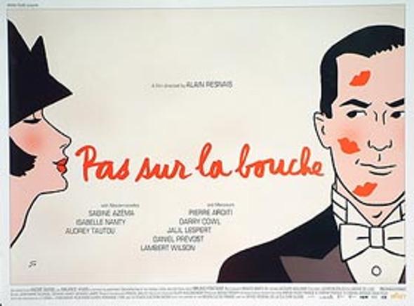 PAS SUR LA BOUCHE ORIGINAL CINEMA POSTER