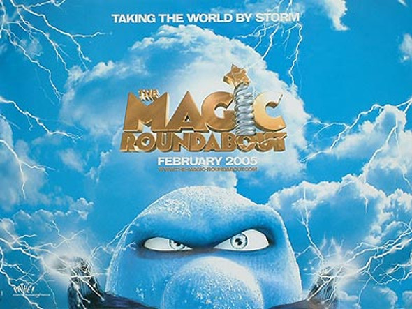 THE MAGIC ROUNDABOUT (DOUBLE SIDED) ORIGINAL CINEMA POSTER