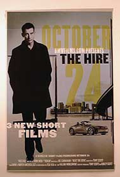 THE HIRE - BMW PROMO (Single Sided UV Coated) ORIGINAL CINEMA POSTER