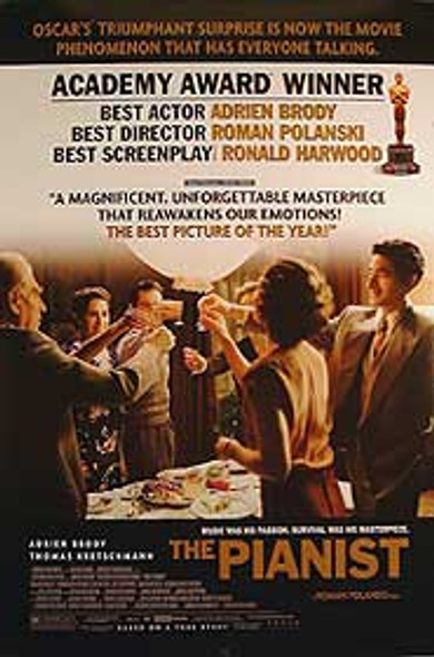 THE PIANIST (Double Sided Academy Awards) ORIGINAL CINEMA POSTER
