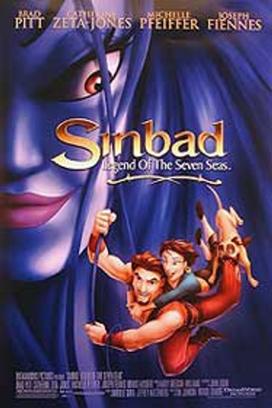SINBAD: LEGEND OF THE SEVEN SEAS (Double Sided Regular) ORIGINAL CINEMA POSTER