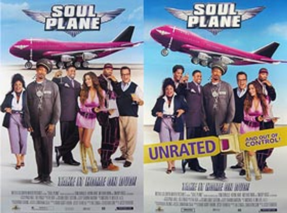 SOUL PLANE (DOUBLE Sided DVD RELEASE) ORIGINAL CINEMA POSTER