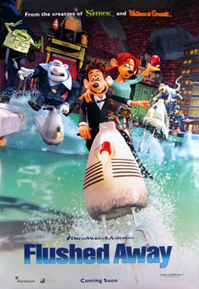 FLUSHED AWAY (Double Sided International) ORIGINAL CINEMA POSTER