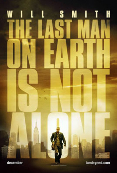 I AM LEGEND (Double Sided Advance) ORIGINAL CINEMA POSTER